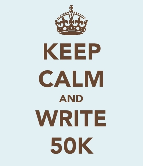 keep calm and write 50k